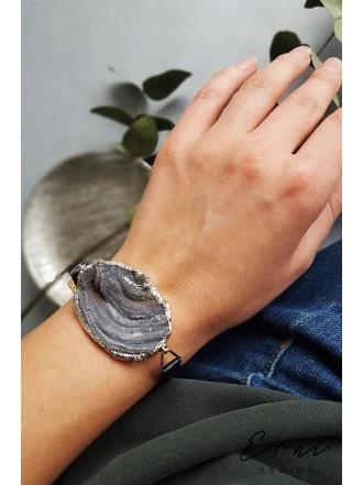 """Apyrankė su kristalizuotu agato akmeniu ,,Watch bracelet"""""""