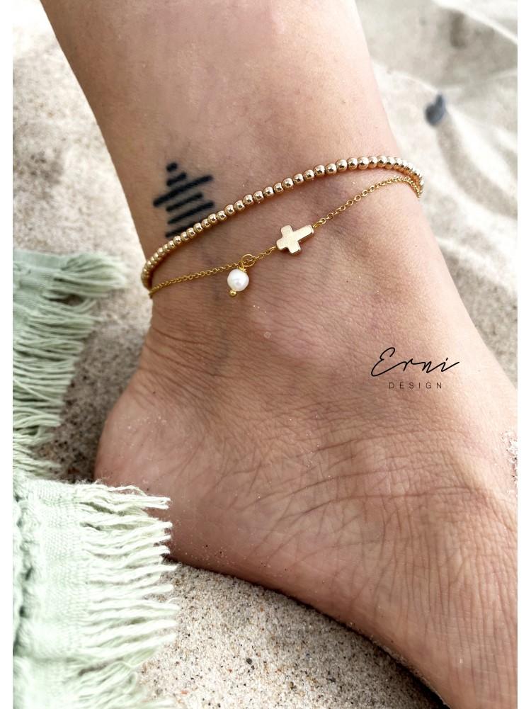 """Apyrankė ant kojos ,,Gold with pearls"""""""