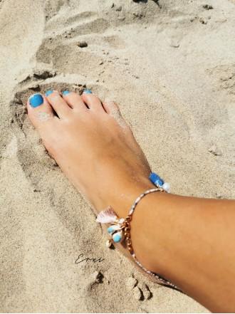 """Apyrankė ant kojos ,,Light blue sea shell"""""""