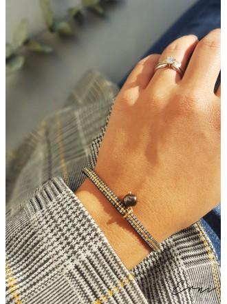 """Apyrankė ,,Minimal beads - GOLD GREY """""""