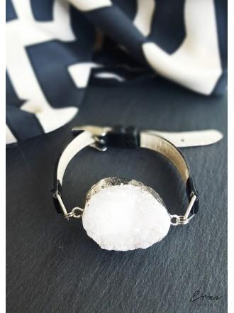 """Apyrankė su kristalizuotu kvarco akmeniu ,,White"""""""