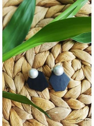 """Dvigubi auskarai su upiniais perlais ,,Bona"""""""
