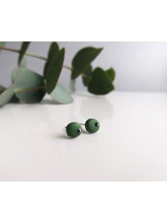 """Auskarai su Swarovski kristalais ,,Simple green"""""""