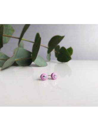 """Auskarai su Swarovski kristalais ,,Small round pink"""""""