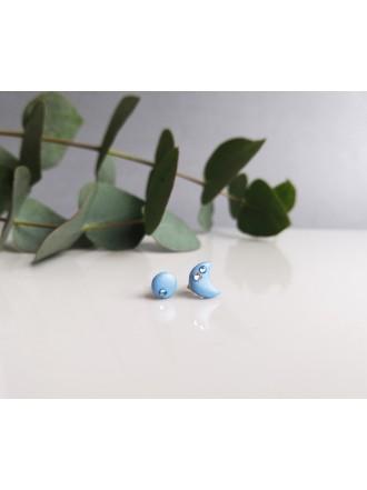"""Auskarai su Swarovski kristalais ,,Small light blue moon"""""""