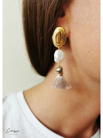 """Auskarai su barokiniais perlais ir kutais ,,Flora"""""""