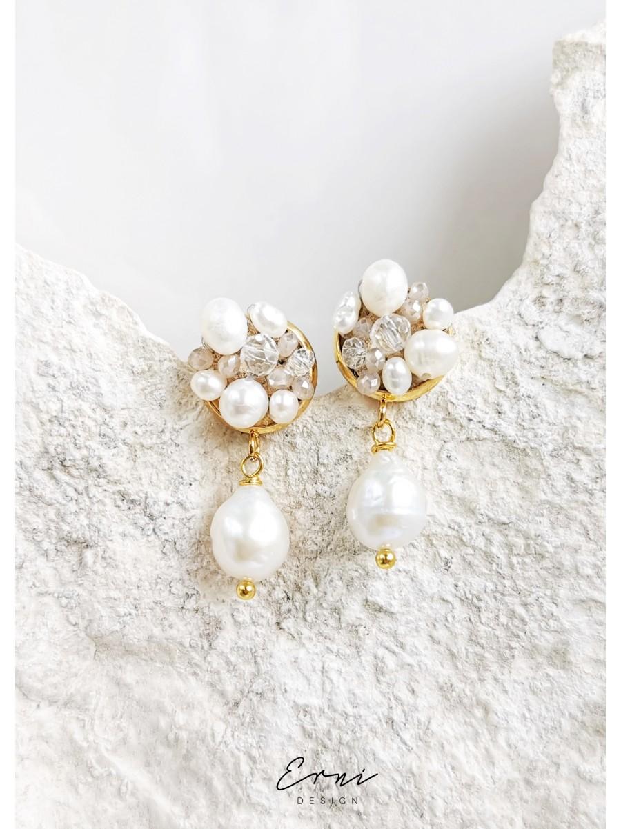 """Auskarai su perlais ,,Asteria"""""""