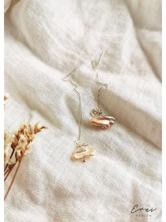 """Auskarai su barokiniais perlais ,,Eva"""""""