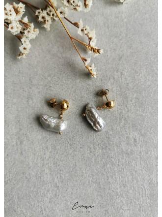 """Auskarai su upiniais perlais ,,Vilė"""""""