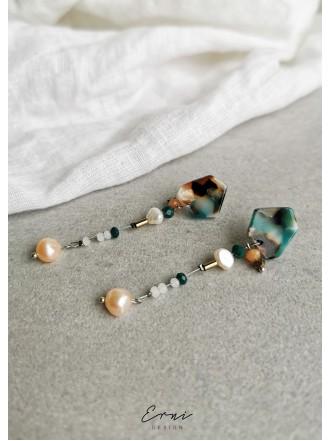Auskarai su upiniais perlais
