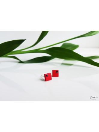 """Auskarai su Swarovski kristalais ,,Red square """""""