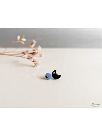 "Auskarai su Swarovski kristalais ,,Black blue moon"""