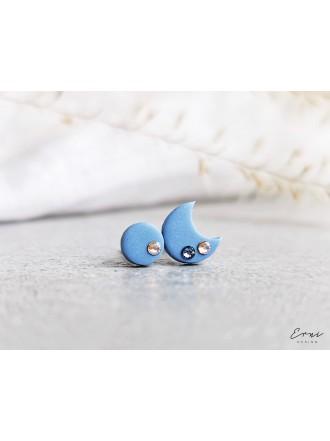 Auskarai su Swarovski kristalais - SMALL BLUE MOON