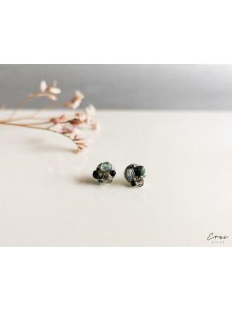 "Auskarai ,,Mini kristaliukai - LIGHT GREEN"""
