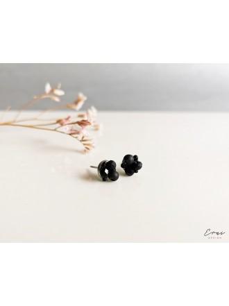 """Auskarai ,,Mini kristaliukai - BLACK"""""""