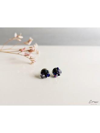 """Auskarai ,,Mini kristaliukai - DARK BLUE 2"""""""
