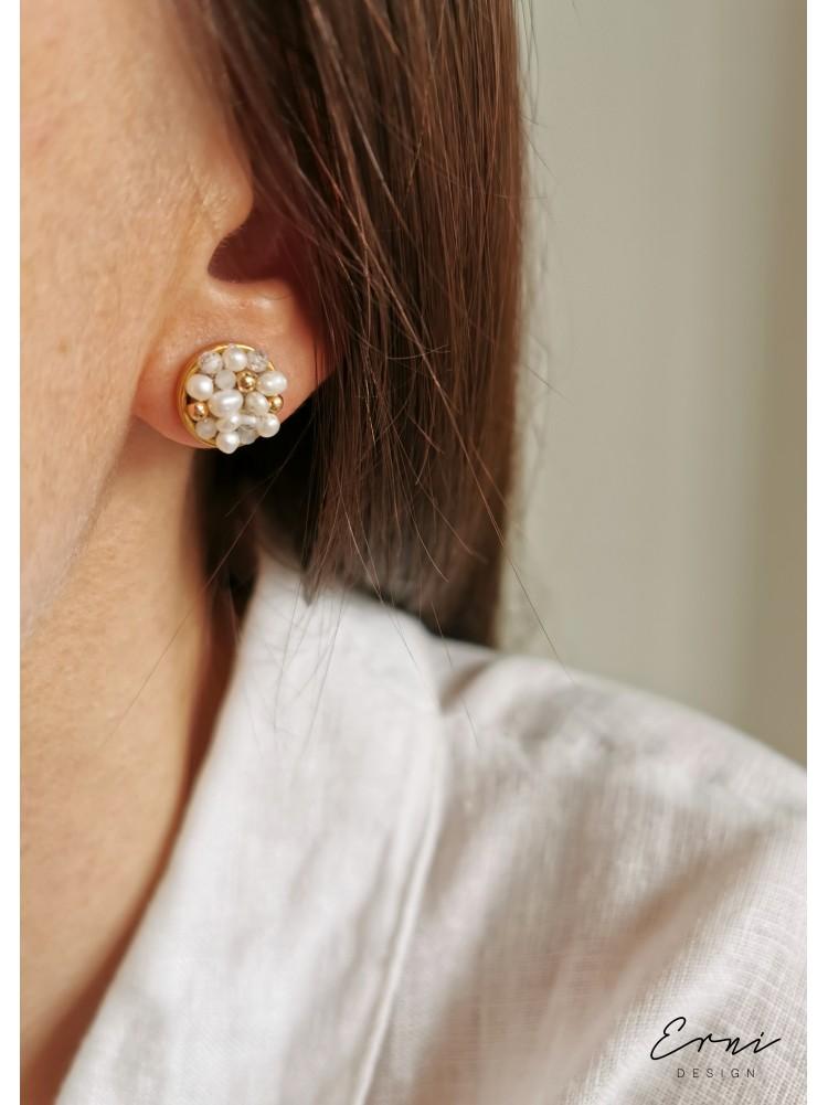 "Auskarai su perlais ,,Leyla"""