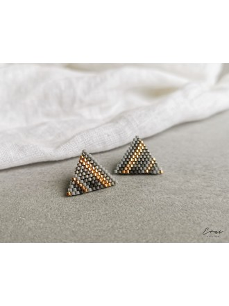 "Auskarai ,,Grey beads"""