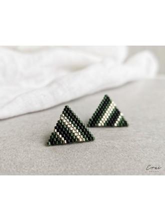 """Auskarai ,,Green beads"""""""