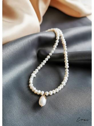 """Kaklo papuošalas su upiniais perlais ,,Nelė"""""""