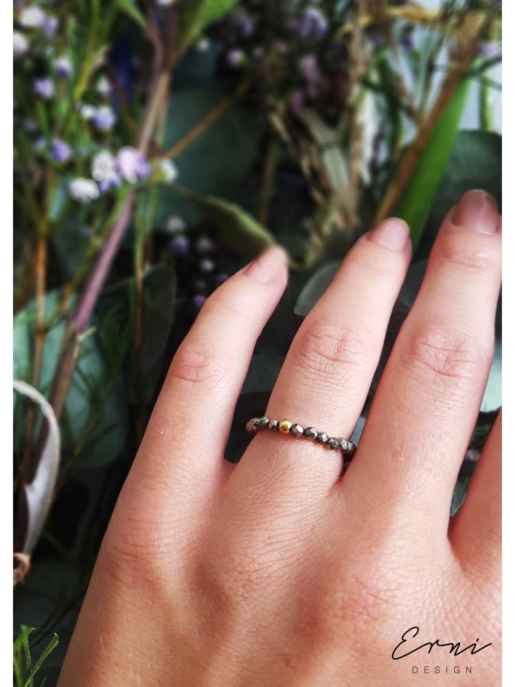 """Žiedas su pirito akmenukais ,,Paulina"""""""