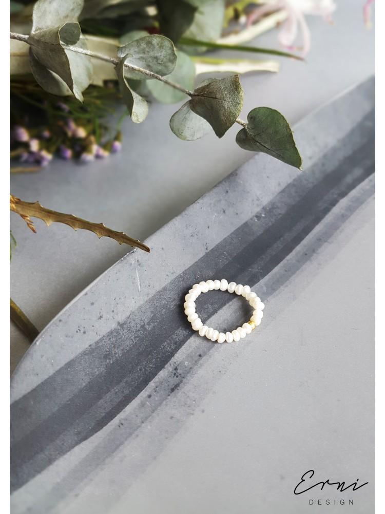 """Žiedas su upiniais perlais ,,Leila"""""""