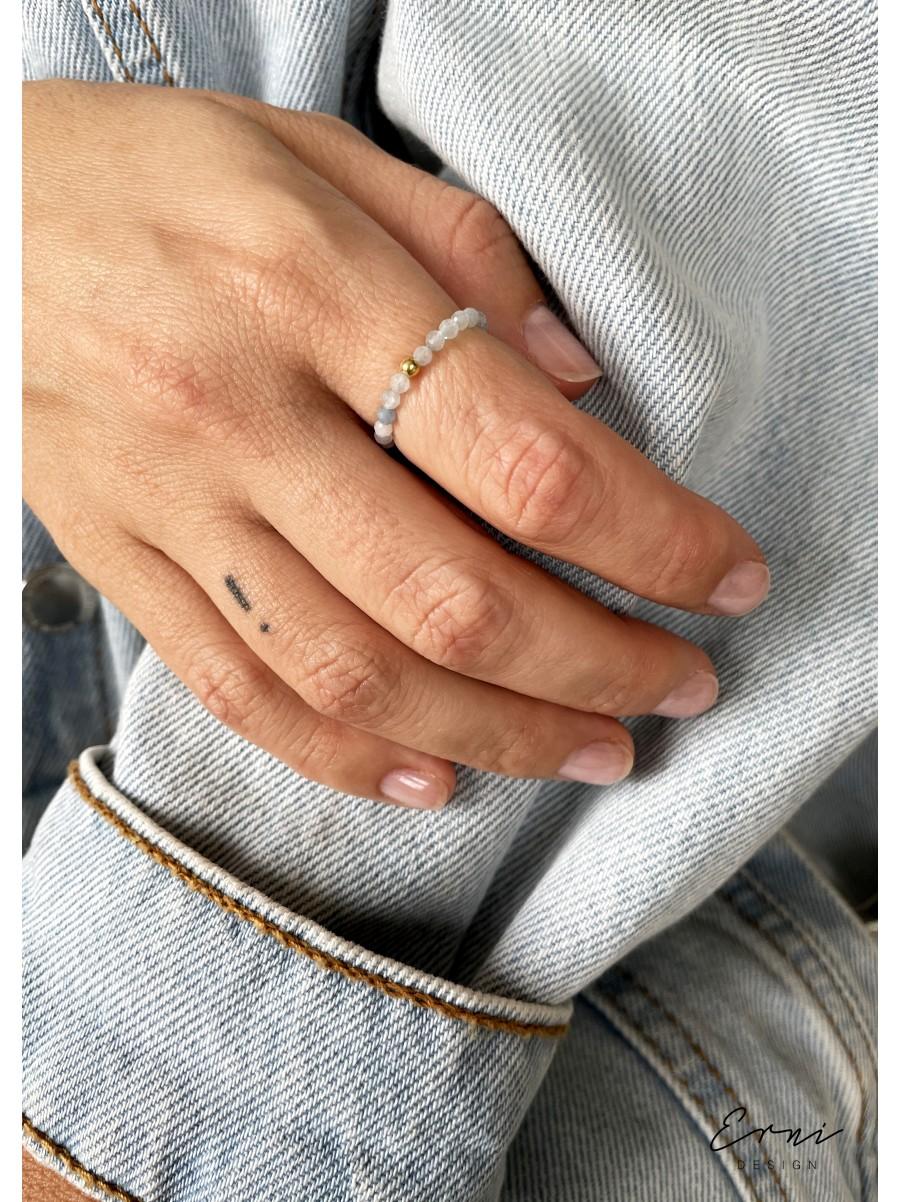"""Žiedas su akvamarino akmenimis ,,Neila"""""""