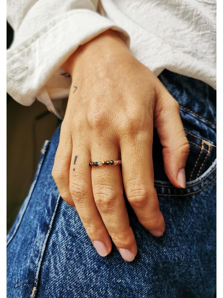 """Žiedas su turmalino akmenukais ,,Alija"""""""