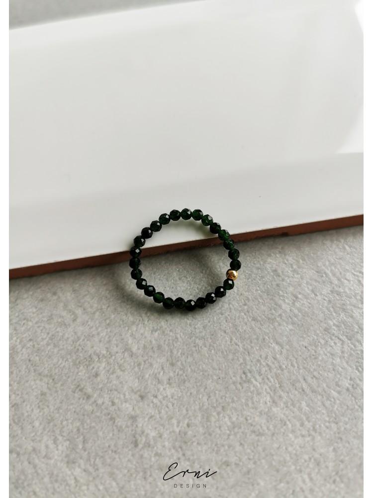 """Žiedas su nilo smaragdo akmenukais ,,Linė"""""""