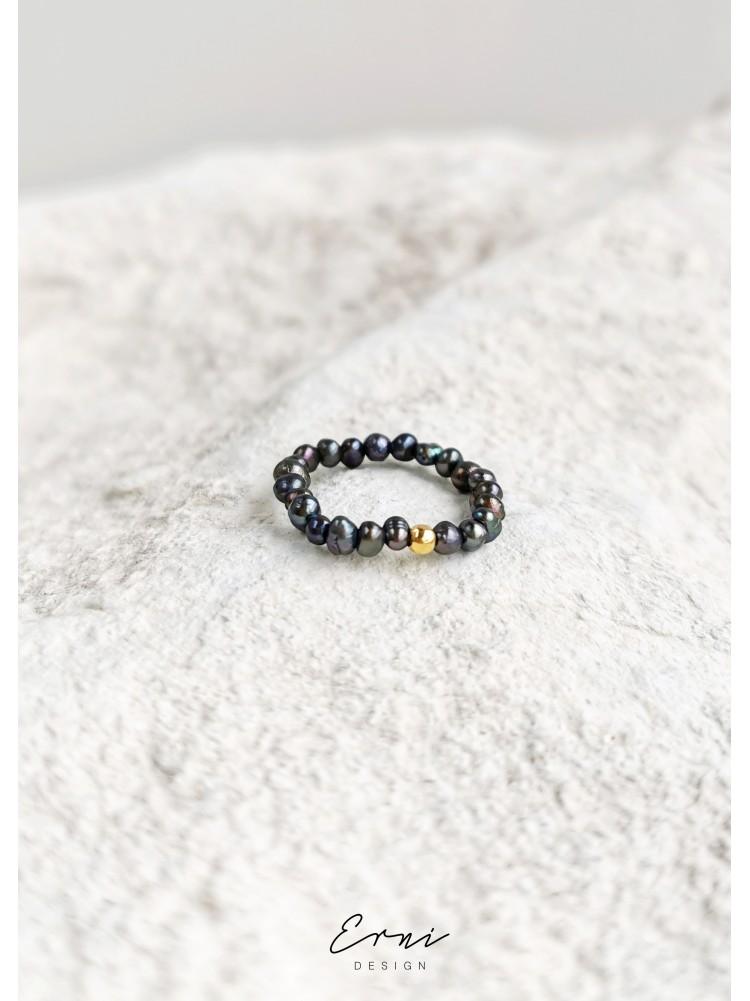 """Žiedas su upiniais perlais ,,Odeta"""""""