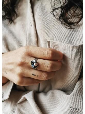 """Žiedas su akmenukais ,,Orlena"""""""
