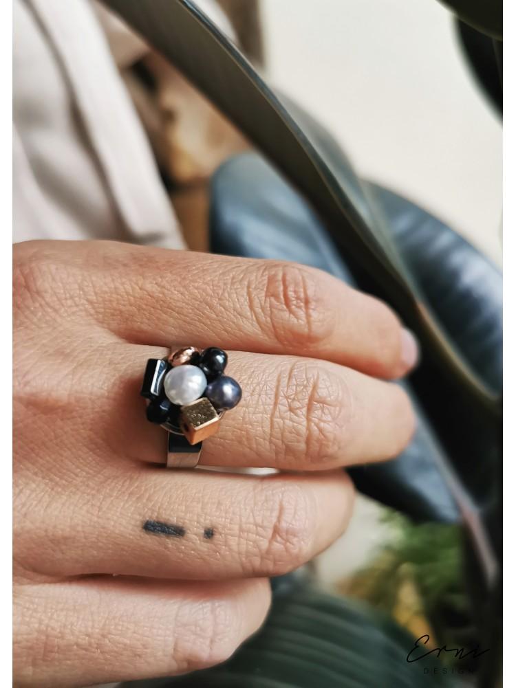 """Žiedas su akmenukais ,,Neida"""""""